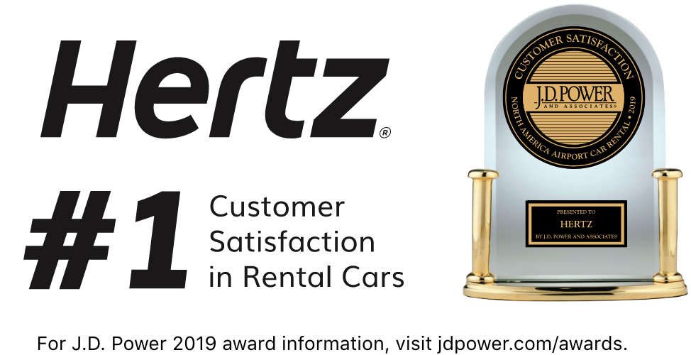 #1 JD Power Hertz Awards Trophy and Logo