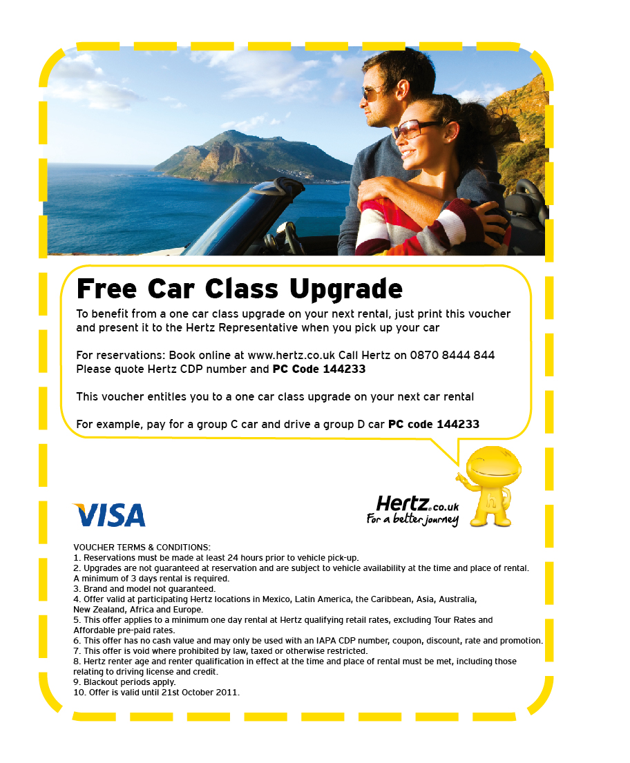 Hertz car rental discount coupons