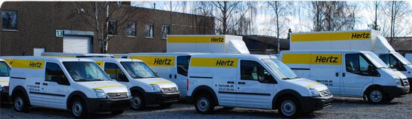 Hertz Biludlejning tilbyder leje af flyttebil, varevogn og kassevogn så du har plads til det hele