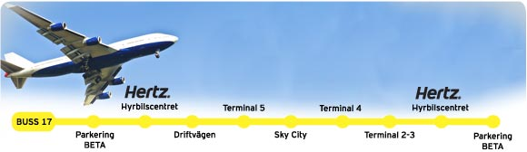 Shuttle Bus To And From Arlanda Car Rental Center