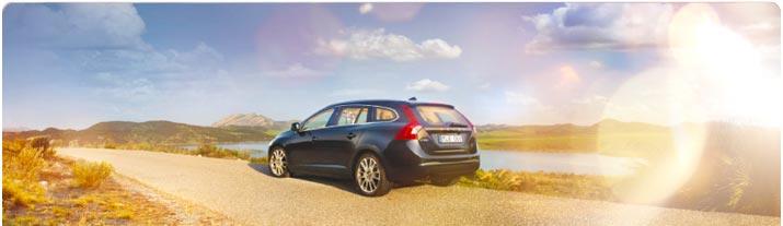 En av Hertz populära bilar är Volvo V60!