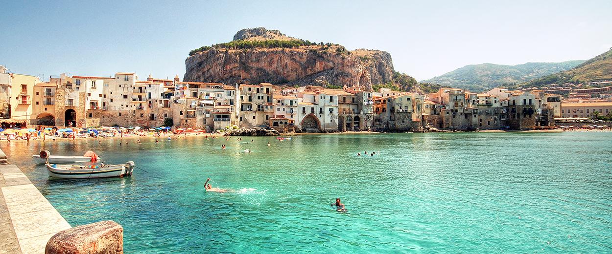 Hamn i Portofino