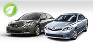Nissan Altima Hybrid and Toyota Camry Hybrid