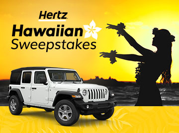Hawaiian Sweepstakes | Gold Plus Rewards Car Rental Deals | Hertz