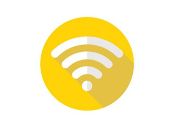 free wifi logo yellow