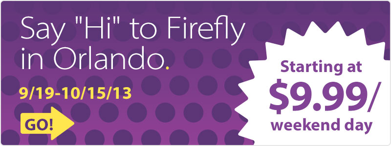 Firefly Car Rental Orlando Florida Offer