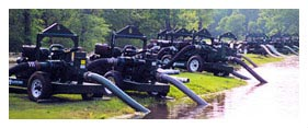 Pumping Equipment Rental - Pond Dewatering Equipment Rental