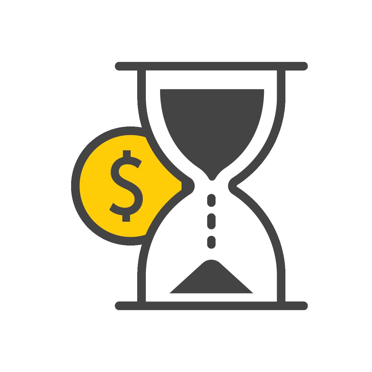Money Timer Icon - Hertz