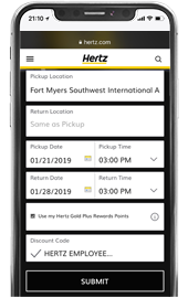 Reserve a car from your device - Hertz Rental Car