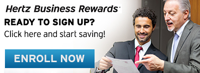 Enroll in Hertz Business Rewards