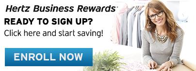 Enroll in Hertz Business Rewards