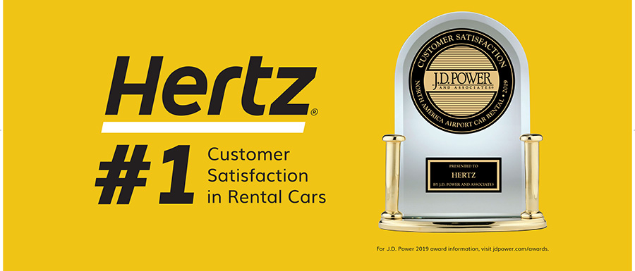 #1 JD Power Hertz Awards Trophy and Logo