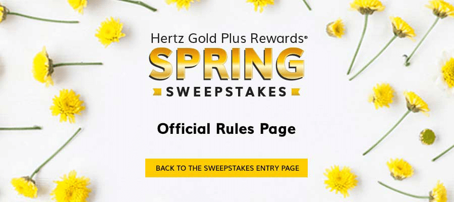 2018 Spring Sweepstakes Rules