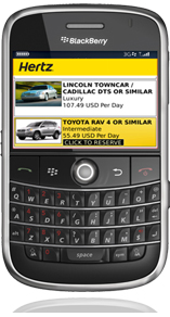 Hertz Blackberry App