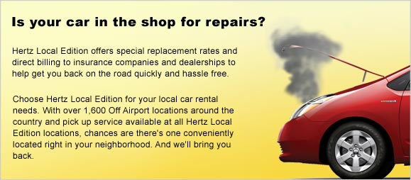 Rental Car Insurance Replacement Local Rent A Car Hertz