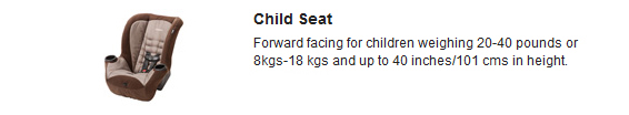 Hertz Rental Car Child Seats