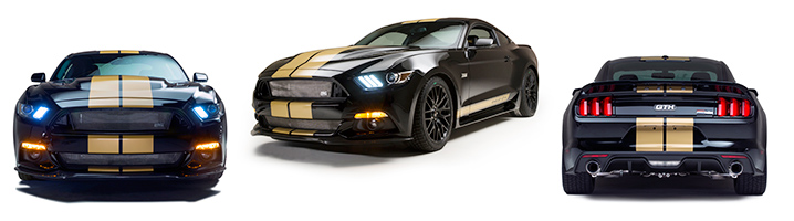 Front Back and Side View -  2016 Ford Shelby GT-H